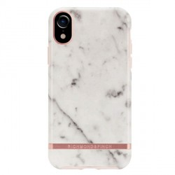 Richmond & Finch iPhone XR Cover White Marble weiß