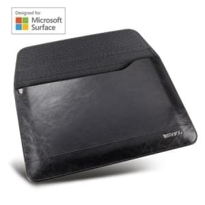 Maroo Executive Ledertasche | Microsoft Surface Go | schwarz