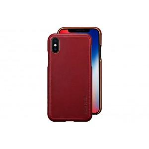 Pierre Cardin Case / Hülle für iPhone XS / X Rot Echtleder