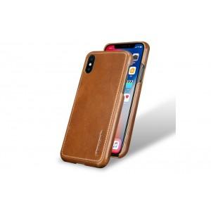 Pierre Cardin Case / Hülle für iPhone XS / X Braun Echtleder