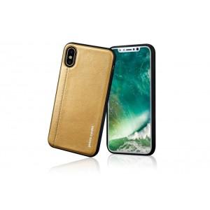 Pierre Cardin Case / Hülle für iPhone XS / X Gelb Echtleder