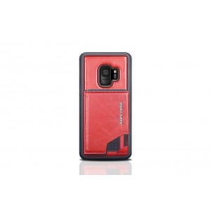 Pierre Cardin Card silikon Case / Hülle für Samsung Galaxy S9 Rot Echtleder