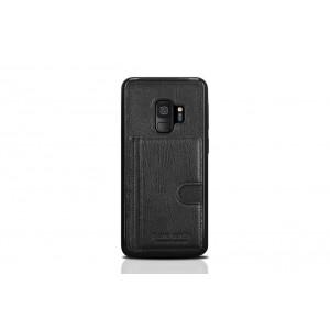 Pierre Cardin Card Case / Hülle für Samsung Galaxy S9 Schwarz Echtleder