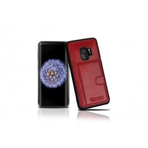 Pierre Cardin Card Case / Hülle für Samsung Galaxy S9 Rot Echtleder