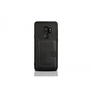Pierre Cardin Card Case / Hülle für Samsung Galaxy S9+ Plus Schwarz Echtleder
