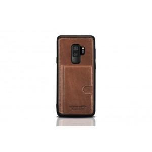 Pierre Cardin Card Case / Hülle für Samsung Galaxy S9+ Plus Braun Echtleder