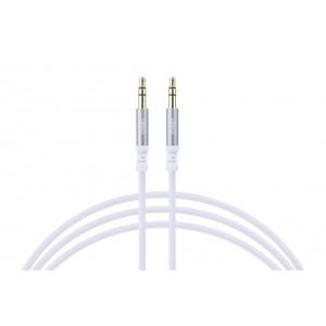 Audio Kabel Stereo 3,5mm Klinkenstecker 3 pol 100cm Weiß