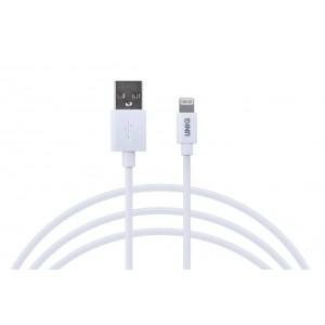 UNIQ MFI Lade / Datenkabel Lightning 2.4A 1m Weiß