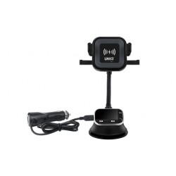 Aktiv Car-Kit mit Qi Wireless Ladegerät + Bluetooth MP3 FM Transmitter