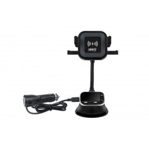 Aktiv Car-Kit mit Qi Wireless Ladegerät + Bluetooth MP3 FM Transmitter