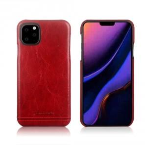 Pierre Cardin Lederhülle iPhone 11 Pro Max Rot echtes Leder