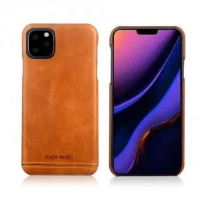 Pierre Cardin Lederhülle iPhone 11 hellbraun echtes Leder