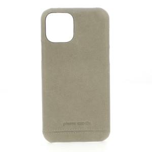 Pierre Cardin Lederhülle iPhone 11 Grau echtes Leder
