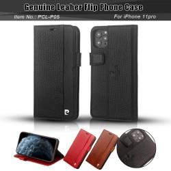 Pierre Cardin Ledertasche iPhone 11 Pro Schwarz echtes Leder
