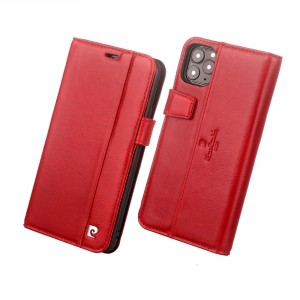 Pierre Cardin Ledertasche iPhone 11 Pro Max Rot echtes Leder