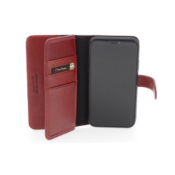 Deluxe Pierre Cardin Ledertasche iPhone 11 Pro Max Echtleder Rot