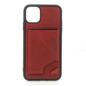 Pierre Cardin Vintage Card Lederhülle iPhone 11 Echtleder Rot