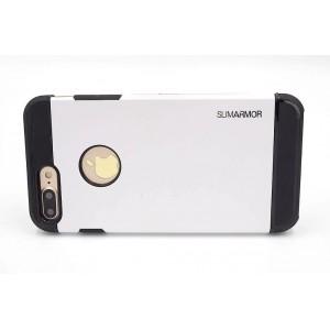 SPIGEN Hybrid Slim Armor II Hülle / Case iPhone 8 Plus / 7 Plus Weiß
