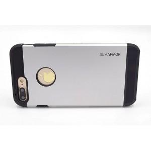 SPIGEN Hybrid Slim Armor II Hülle / Case iPhone 8 Plus / 7 Plus Silber