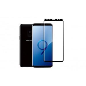 Premium Panzerglas / Tempered Glass 3D curve Rand zu Rand für Samsung Galaxy S9 Schwarz