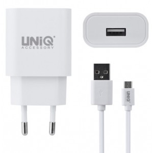 UNIQ USB Type C Schnell Ladegerät / Netzteil 10 Watt / 2.4A Weiß