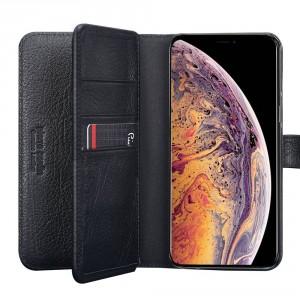 Deluxe Pierre Cardin Ledertasche iPhone 11 Echtleder Schwarz