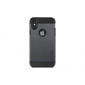 SPIGEN Slim Hybrid Hülle / Backcover für iPhone XS / X Schwarz