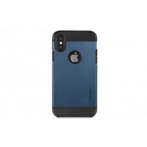SPIGEN Slim Hybrid Hülle / Backcover für iPhone XS / X Dunkel Blau
