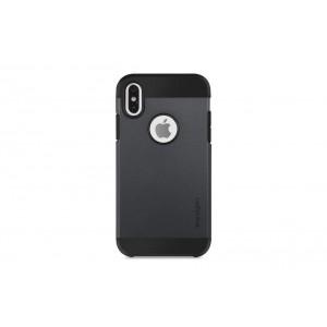 Spigen Slim Hybrid Hülle / Backcover für iPhone XS Max Schwarz