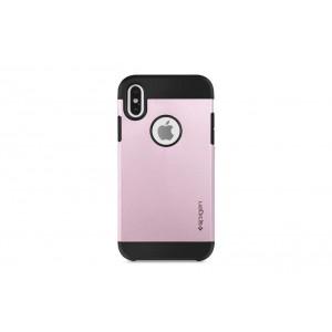 Spigen Slim Hybrid Hülle / Backcover für iPhone XS Max Rose Gold