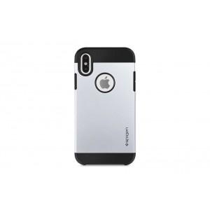Spigen Slim Hybrid Hülle / Backcover für iPhone XS Max Silber