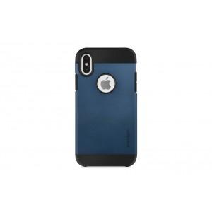 Spigen Slim Hybrid Hülle / Backcover für iPhone XS Max Dunkel Blau