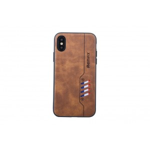 Remax Hülle / Backcover für iPhone XS / X Braun