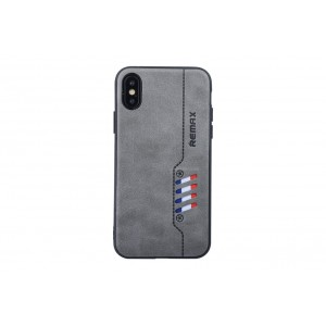 Remax Hülle / Backcover für iPhone XS / X Grau