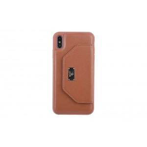 UNIQ Card Case / Hülle für iPhone XS Max Braun