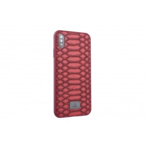 UNIQ Hülle / Backcover für iPhone XS Max Schlange Rot