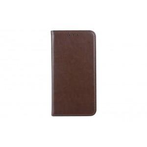 Premium Handytasche / Book Case für iPhone XS Max Braun
