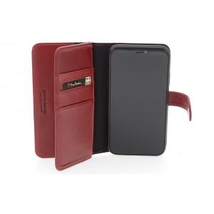 Pierre Cardin Deluxe Book Case echtleder Tasche für iPhone XR Rot