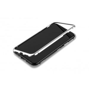 Magnet Hülle für iPhone XS Max Silber