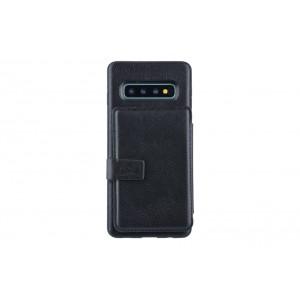 UNIQ Flip Style 3 Karten Fach Hülle / Cover für Samsung Galaxy S10 Schwarz