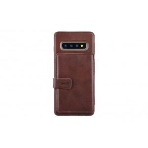 UNIQ Flip Style 3 Karten Fach Hülle / Cover für Samsung Galaxy S10+ Plus Braun