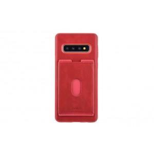 UNIQ Slid Style Karten Fach Hülle / Cover für Samsung Galaxy S10+ Plus Rot