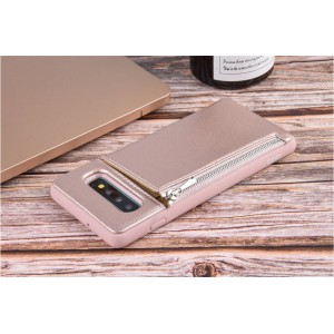 UNIQ Card Case / Hülle für Samsung Galaxy S10 Zipper Rose Gold