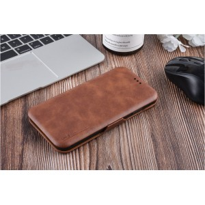 UNIQ Luxury Tasche für iPhone XS Max Aufstellfunktion + Kartenfach Braun