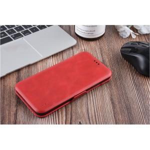 UNIQ Luxury Tasche für iPhone XS Max Aufstellfunktion + Kartenfach Rot