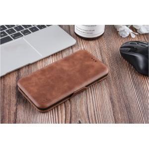 UNIQ Luxury Tasche für iPhone XR Aufstellfunktion + Kartenfach Braun