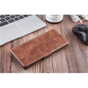 UNIQ Luxury Tasche für Samsung Galaxy Note 9 Aufstellfunktion + Kartenfach Braun