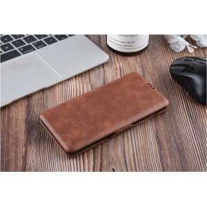 UNIQ Luxury Tasche für Samsung Galaxy S10+ Plus Aufstellfunktion + Kartenfach Braun