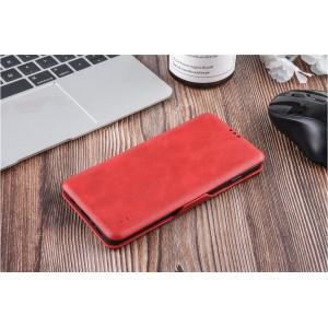 UNIQ Luxury Tasche für Samsung Galaxy S10+ Plus Aufstellfunktion + Kartenfach Rot