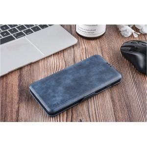 UNIQ Luxury Tasche für Samsung Galaxy S10+ Plus Aufstellfunktion + Kartenfach Blau